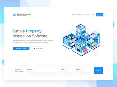 Property Inspection property web design ux user interface user experience ui template layout homepage creative building illustration
