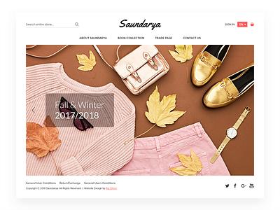 eCommerce Landing Page Saurdarya web design layout homepage interaction website ux ui store shop product fashion ecommerce