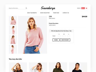 eCommerce Product Detail Saurdarya ecommerce fashion product shop store ui ux website interaction homepage layout web design