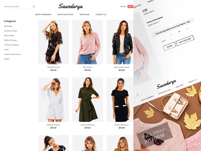 eCommerce Pages for Saurdarya ecommerce fashion product shop store ui ux website interaction homepage layout web design