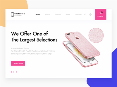 """""""Smartphone Accessories"""" store mobile accessories smartphone layout website web ux ui page landing illustration"""