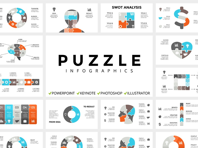 Puzzle  Infographic templates  Free updates! by TheSeamuss