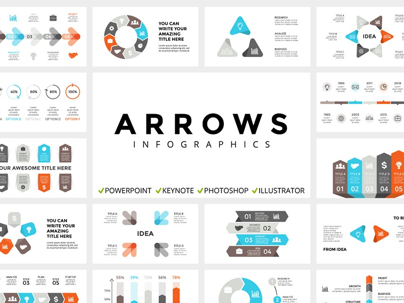 arrows infographic templates free updates by theseamuss