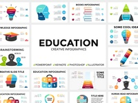 Education. Infographic templates. Free updates!