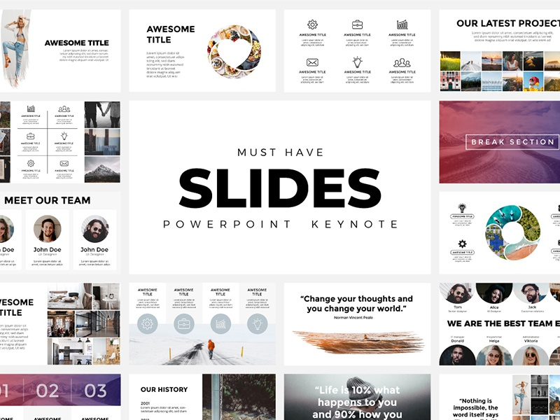 Must Have Slides  Powerpoint, Keynote  by TheSeamuss on Dribbble