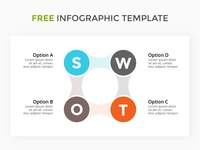SWOT analysis infographic. Free PPTX.