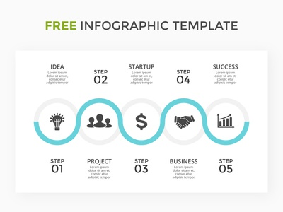 Infographic template. Free PSD. stage step icons circle free psd presentation template slide infographic timeline