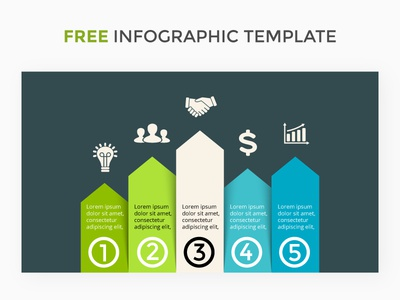 Infographic template. Free PSD. presentation slide template diagram infographic performance success growth chart graph