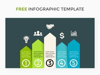 Infographic template. Free PSD.