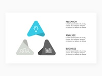 Infographic template. Triangle diagram.
