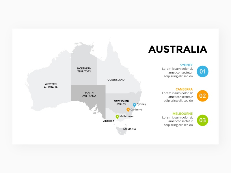 Australia Map Template.Australia Map Infographic Template Free Ppt By Theseamuss On Dribbble