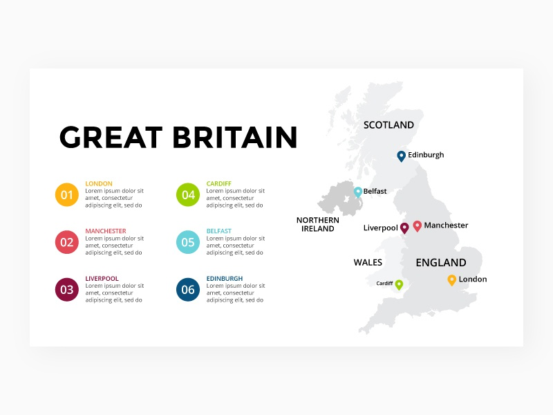 Map Of England Template.Great Britain Map Infographic Template Free Ppt By Theseamuss