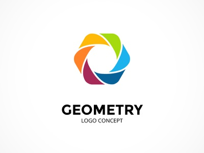 Abstract logo concept. Geometric sign. abstract symbol sign infographic brand logotype geometric identity icon logo figure hexagon