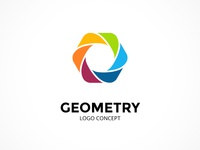 Abstract logo concept. Geometric sign.