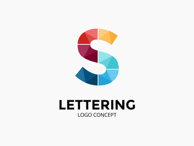 Letter S. Logo concept. abstract symbol sign logotype identity logo font lettering s letter