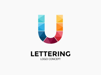 Abstract logo concept. Letter U. icon illustration infographic logotype u font lettering identity brand logo letter