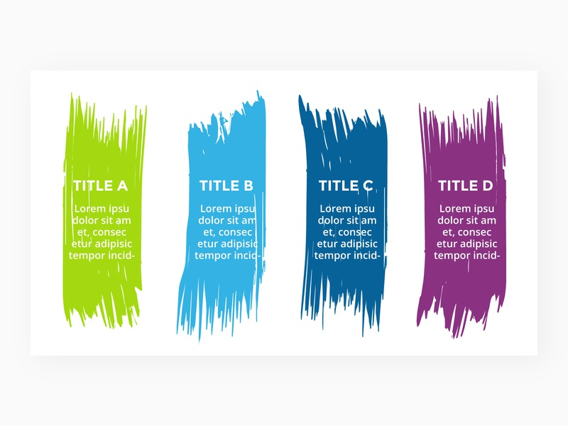 Infographic slide template. templates slides abstract art brush infographics keynote powerpoint presentation infographic template slide