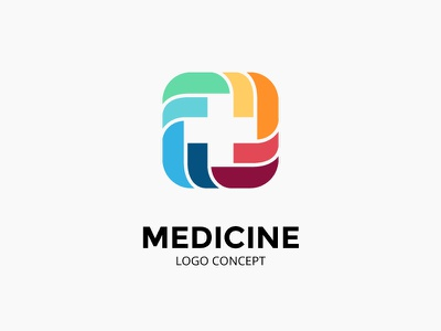 Abstract logo concept. Medical plus sign. brand and identity medical app healthcare first aid plus icon logo doctor hospital health medicine medical
