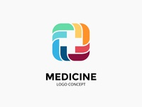 Abstract logo concept. Medical plus sign.