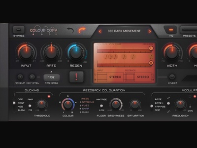 VST Skin for Audio plugin ux graphical user interface design interface user interface gui design design audio vst ui gui