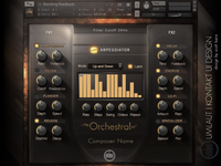 Orchestral Virtual Intrument Audio GUI