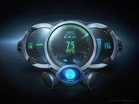 Futuristic Meters GUI