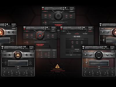 Audio Imperia Kontakt GUI Post Production 3d hitech scifi graphical user interface ux ui gui design interface library kontakt