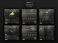 PG - Production Grand Piano, Kontakt Library GUI Design