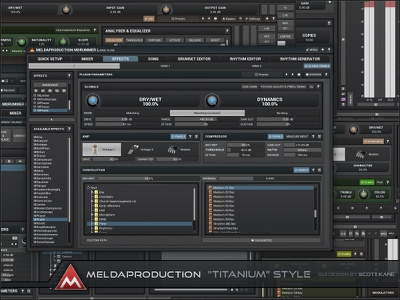 Titanium Style GUI Design for Audio vst plugin gui designer gui design audio graphical user interface user interface ux ui gui design interface