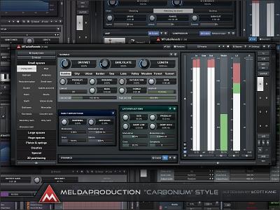 Cabonium Style Audio GUI Design for Meldaproduction interface design gui ui meldaproduction user interface graphical user interface audio plugin gui design gui design gui designer plugin vst