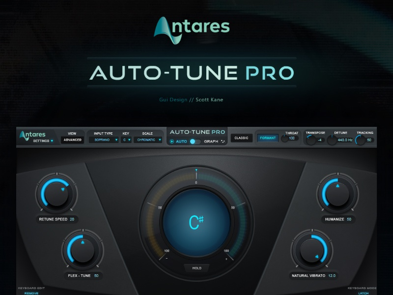 Antares AutoTune - Pro / VST Plugin Gui Design by Scott Kane on Dribbble