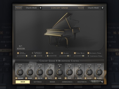 Concert Grand Piano User Interface Design user interface design library vst audio gui design ui design design user interface piano ui gui kontakt