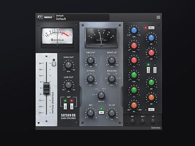 Satson Channel Strip VST plug-in Ui Design ui design for audio vst ui audio vst ui audio gui interface 3d scott kane plugin ux kontakt graphical user interface design gui design user interface design audio ui vst gui