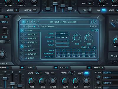 Sylenth 'Nitro' gui design for vst synth scott kane nitro skin sylenth1 vst plugin audio gui design gui design user interface design ui vst gui