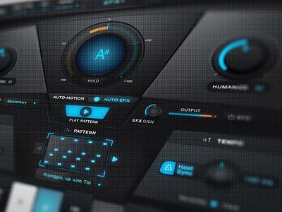 Antares 'Auto-Tune EFX+' Audio GUI Design auto-tune pro auto-tune efx user inteface auto-tune ui autotune gui designer gui design antares autotune audio vst ui gui