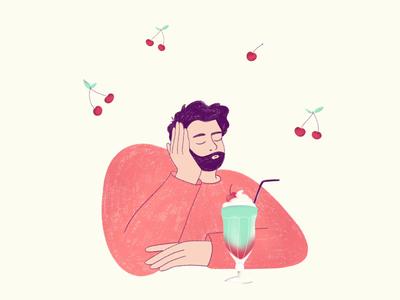 🍒🥛 Cherry milkshake