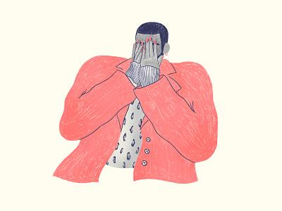 👀Hiding hiding man hide and seek procreate branding work storytelling character illustration