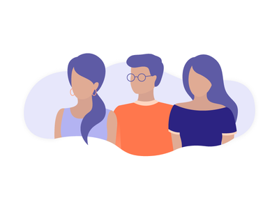 Co-Workers together work storytelling open space management isometric illustration focus employee coworker character