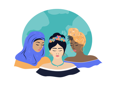 🌍 International Women's Day - 2018 world feminism 2018 international women day woman women character illustration