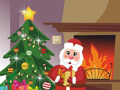 Vector illustration for Christmas card 2d illustration 2d vector illustration flat design christmas card vector illustration