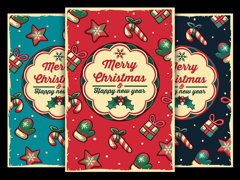Christmas Greeting Cards by olgameola | Dribbble | Dribbble