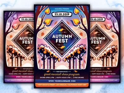 Autumn Music Festival Flyer Template