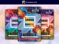 Expo Invitation for Urban Architecture Exhibition Poster / Flyer exhibition poster advertisement city conference industrial commercial leadership exposition build urban invitation expo exhibition business building corporate design architecture flyer architecture design architecture