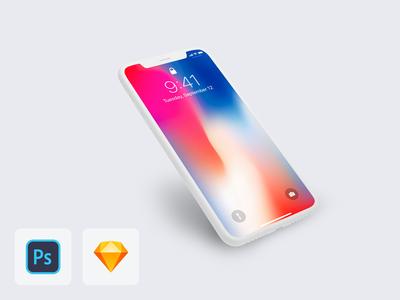 iPhone X Clay Mockup [freebie]