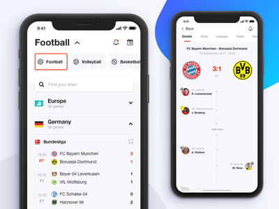 Live Score App iphone x team game live sports football results score ios11 ios 11