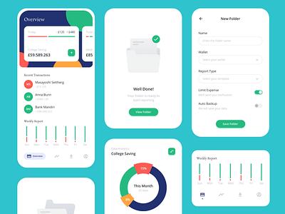 Momon Financial Apps app ui design mobile