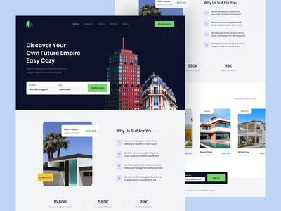 Broperti Landing Page apartment house property ui design landing page web design real estate
