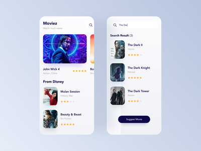 Moviez Streaming ui ux teather mobile app ui design streaming movie video