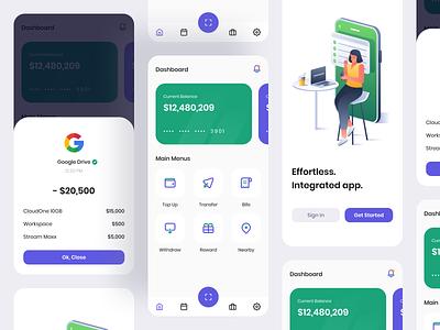 Finansa App bank report finance app illustration mobile ui design