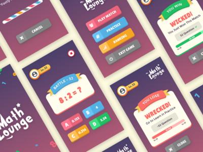 MathLounge Game UI Design